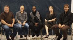 All 5 TV Star Trek Capitans together at the same time!  So. Awesome.