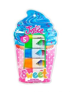 5 Pack Cupcake Scented Highlighters