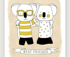 A4 Koalas illustration via Etsy