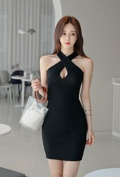 Women's Fashion Dresses, Sexy Dresses, Sexy Outfits, Girl Outfits, Full Figured Women, Korean Girl Fashion, Beautiful Asian Women, Sexy Asian Girls, Asian Woman
