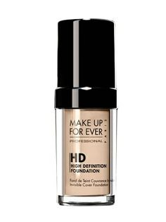 For fair skin, use this product for medium to full coverage, Make Up For Ever HD Invisible Cover Foundation, $42, Sephora.com