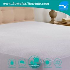 Cheap fitted premium 100% waterproof mattress protector for wholesales in Brandon