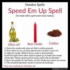 Done other spell work already? Need to see it get it's tail in gear? This ultra simple spell is great do speeding up any and all work from love to money to protection to dark work! Enjoy! #Hoodoo #hoodoodelish #rootwork #spells #magic #conjure #spellwork
