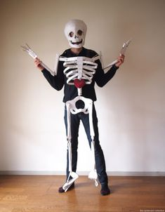 The Cardboard Collective: dancing cardboard skeleton costume
