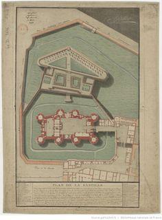 Plan de la Bastille donné le 14 juillet 1790 / Palloy
