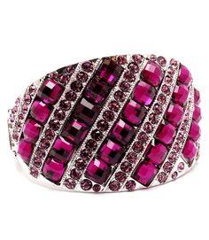 deluxe purple crystal stripe bangle $26.00