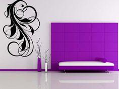 Swirl Flourish, Decorative - Vinyl, Decal, Sticker, Wall, Home, Office, Bedroom Decor