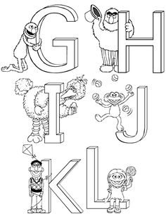 Sesame Street Print Template | Sesame Street Coloring Pages