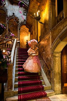 Hotel Danieli, Solange, Venice, Venezia, mask, staircase, costume, Carnevale