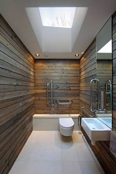 The wet room redone rustic modern.