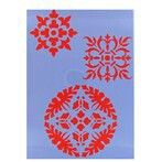 Spanish Tile Stencil: SKU# 319749 $2.99;                             http://shop.hobbylobby.com/products/spanish-tile-icon-stencils-319749/