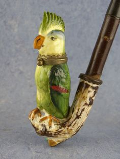 Porcelain pipe Cool pipe I love birds