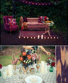 Boho Wedding - love the couch setting