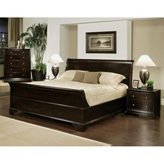 @Overstock - Enrich your home decor with this Kingston queen-size Sleigh bedroom set. This set features solid oak wood construction and includes a queen-size bed, two nightstands, and one chest.   http://www.overstock.com/Home-Garden/Kingston-4-piece-Espresso-Sleigh-Queen-size-Bedroom-Set/6091957/product.html?CID=214117 $2,599.99