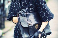 iloverunways:    marni x hm coat  zara knit,vintage bag