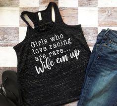 Girls Who Love Racing Are Rare Ladies Racing Tank Top