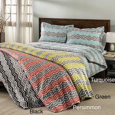 @Overstock.com - Strada Ikat 300 Thread Count 3-piece Duvet Cover Set - This duvet cover set features a unique jagged colorful pattern in thin stripes in a choice of several color options. The machine washable set's 300 thread count is soft and luxurious.  http://www.overstock.com/Bedding-Bath/Strada-Ikat-300-Thread-Count-3-piece-Duvet-Cover-Set/8474594/product.html?CID=214117 $39.99