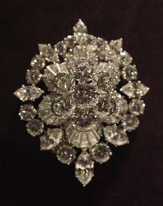 The Burton Diamond Brooch, by Van Cleef & Arpels. Elizabeth Taylor. $1,142,500.