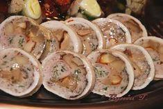 1,5 piersi z kurczaka 1 - 2 plastry szynki konserwowej kilka świeżych lub mro Pasta Salad, Potato Salad, Sushi, Ale, Potatoes, Ethnic Recipes, Impreza, Food, Gastronomia