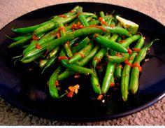 Garlic ginger green beans