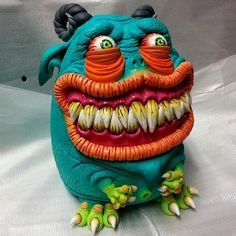 @soniambulacreatures created this wonderful and colourful creature #supersculpey #sculpey ...