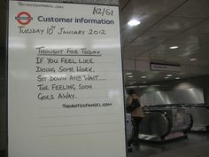 Angel Tube Thought of the Day 10th Jan 2012 by Annie Mole, via Flickr