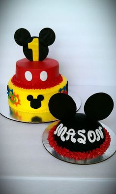 Mickey Mouse and smash cake