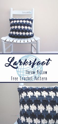 Larksfoot Throw Pillow by B.hooked Crochet