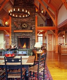 Converted Barns design. I like the fireplace placement