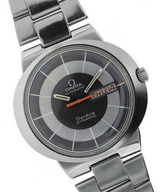 OMEGA DYNAMIC GENEVE (DAY-DATE) Automatic winding timepiece in stainless steel case, size 41 mm., 1970s