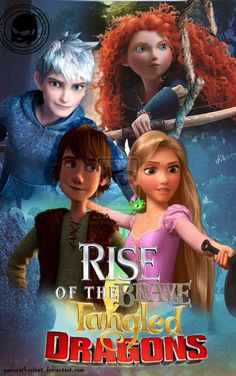 My poster ROTG ROTG - Rise Brave Tangled Dragons. Brave Pixar(С) Rise of the Guardians Dreamworks(С) How to Train Your Dragon Dreamworks(C) . Disney Crossovers, Disney Memes, Funny Disney, Rise Of The Guardians, Arte Disney, Disney Magic, Disney Girls, Disney Love, Jack Frost