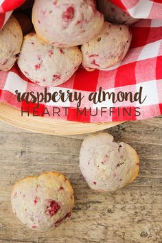 These raspberry almond heart muffins are adorable and super delicious! Perfect for sharing with your sweetheart!