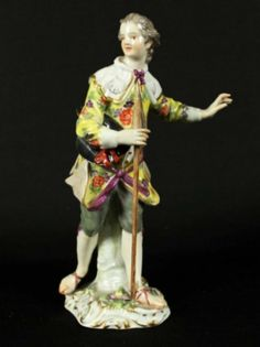 MEISSEN FIGURE WITH CANE : Lot 446