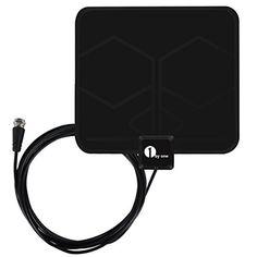 1byone 0.5mm Antenne TNT Intérieure Full HD HDTV Aérienne avec d'Excellente Performance pour DVB-T TNT Numérique et Analogique TV Signaux,…