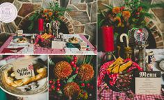 The reception was designed to envoke a nostalgia for German Christmas traditions of olde. As seen on BRIDE.Canada. Photography credit: Sugar & Soul Photography in Winnipeg, Manitoba.