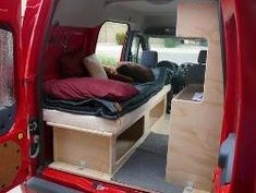 Homemade DIY Camper Van and Professional Conversion - Ford Transit Connect Class B Motorhome - Kevin Hornby Designs, Cheap RV Living Woodworker. Ford Transit Connect Camper, Transit Camper, Transitional Living Rooms, Transitional House, Transitional Lighting, Cheap Campers, Small Campers, Cheap Rv Living, Van Dwelling