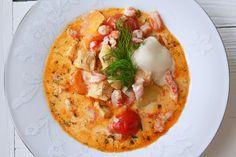Soppa med torsk och lax