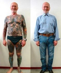 Senior Citizens Reveal What Tattoos Look Like on Aging Skin - My Modern Met. I also just can't get over how adorable these elderly folks are. #cute