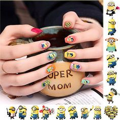 NEW DESPICABLE ME TOTAL 40 MINIONS NAIL ART STICKERS DECALS WRAPS PARTY FAVORS