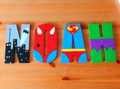 Aida Biermann - Welcome Mdf Letters, Nursery Letters, Superhero Letters, Bathtub Decor, Cool Kids Bedrooms, Marvel Avengers, Spiderman Marvel, Baby Boy Rooms, Baby Room