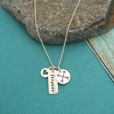 Friends Necklace Arrow Necklace Best Friends Gift Friends | Etsy