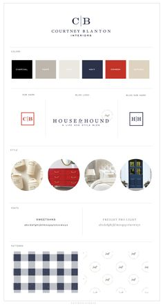 Brand and Web Design :: Courtney Blanton Interiors - Saffron : Saffron Avenue