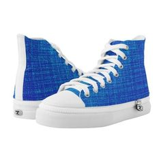 blue High-Top sneakers ($92) ❤ liked on Polyvore featuring shoes, sneakers, high-top sneakers, blue high top shoes, blue high top sneakers, blue high tops and blue color shoes
