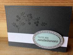 Carte de condoléances couleur grise : Cartes par sabandpaper