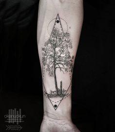 Stunning Graphical Tattoos – #okanuckun #tatoo