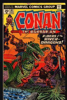 CONAN The Barbarian #60 1976 Robert E. Howard Sword & Sorcery Fantasy Roy Thomas John Buscema