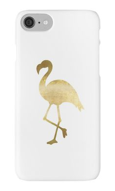Calling all flamingo lovers! Represent with this cute gold flamingo design! Makes a great gift for friends, family, or yourself! • Also buy this artwork on stickers, apparel, phone cases, and more. #flamingo #gifts #summer