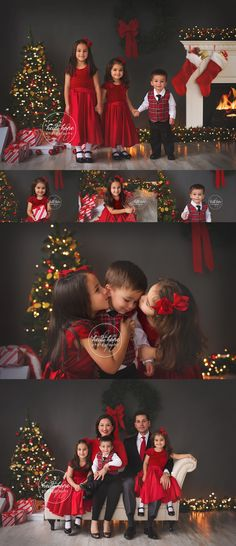 christmas portraits in the studio by rhode island family photographer