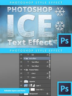 Frozen Ice Text Effect - Photoshop. Layer Styles