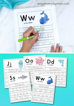 These printable ocean animal worksheets are a fun and educational activity that's great for preschoolers, prek and kindergarten children. They're perfect for summer!   #simpleeverydaymom Maze Worksheet, Pattern Worksheet, Letter Maze, Letter D, Educational Activities, Activities For Kids, Handwriting Practice Worksheets, Animal Worksheets, Early Childhood